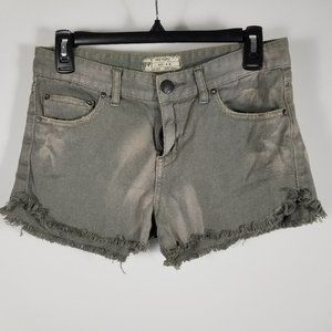 Free People Jean Shorts Size 26 Frayed Distressed
